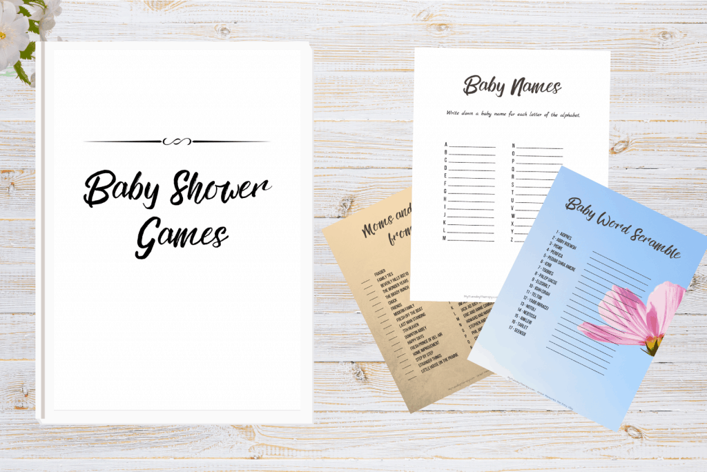 baby shower game printables neutral design