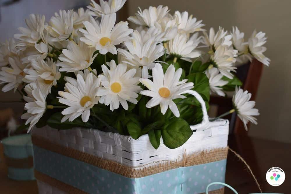 Daisy basket DIY