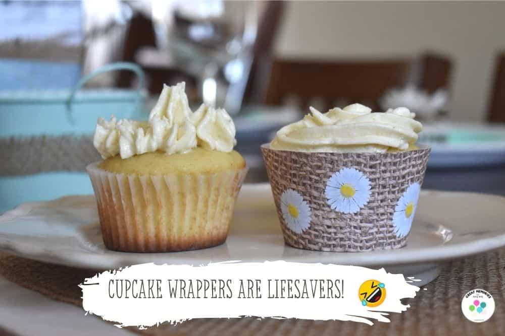 Daisy cupcake wrapper turns any cupcake into daisy themed cupcake.