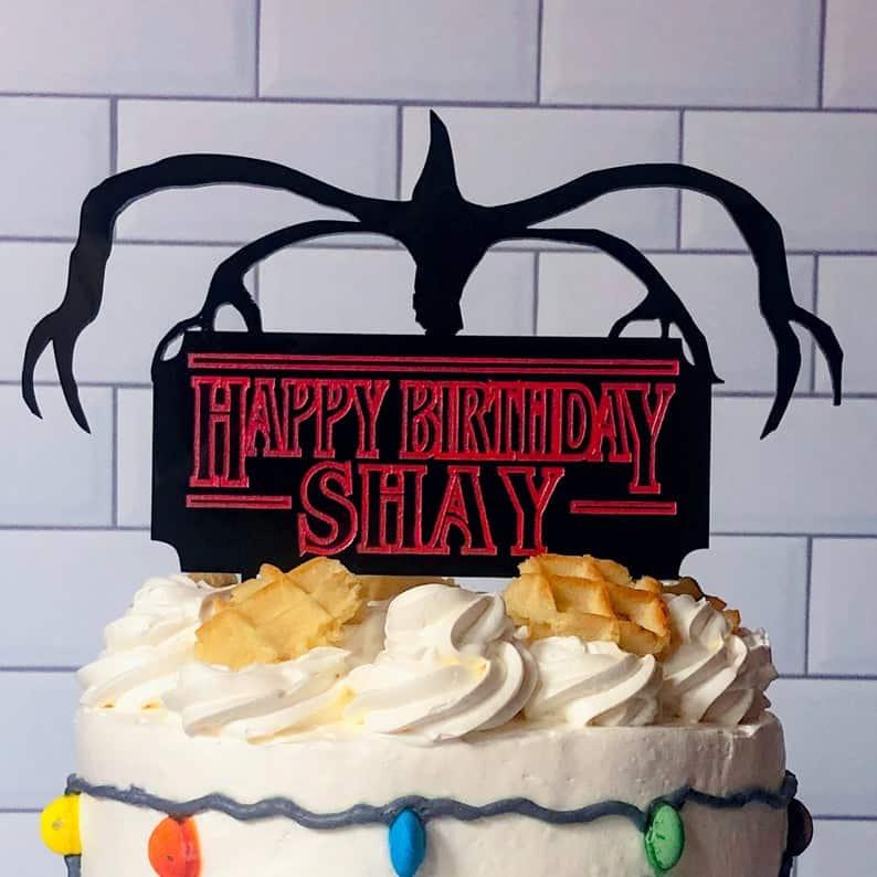 Stranger Things Demagorgon Birthday Cake Topper (LaswerworxSigns)