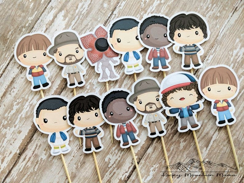 Stranger Things Cupcake Toppers (rockymountainmama1) All your favorite characters from Stranger Things
