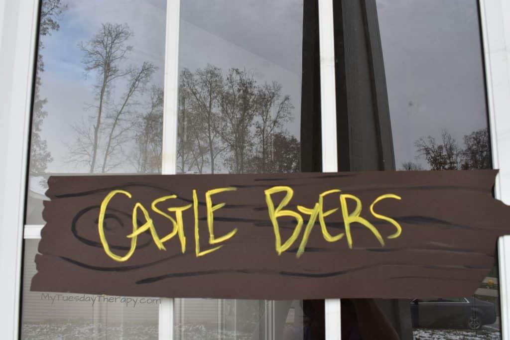 Castle Byers Sign DIY