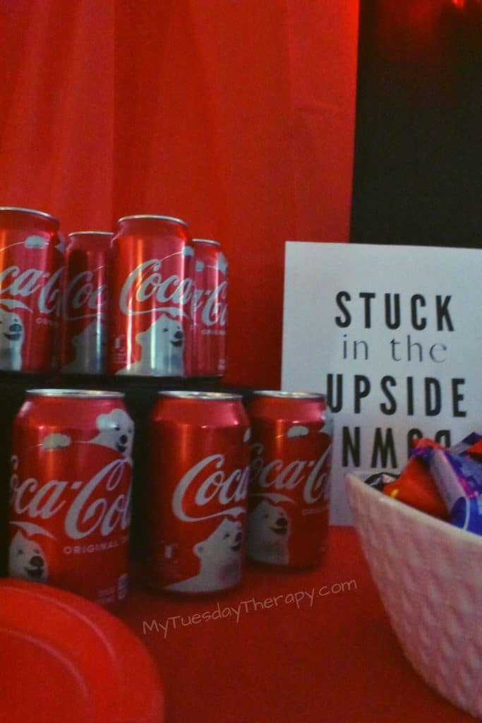 Coca Cola a perfect beverage for Stranger Things party.