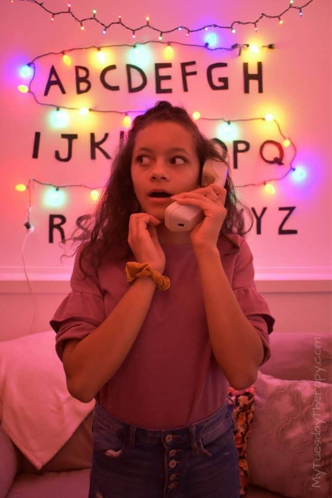 Stranger Things Party Decor: the phone.