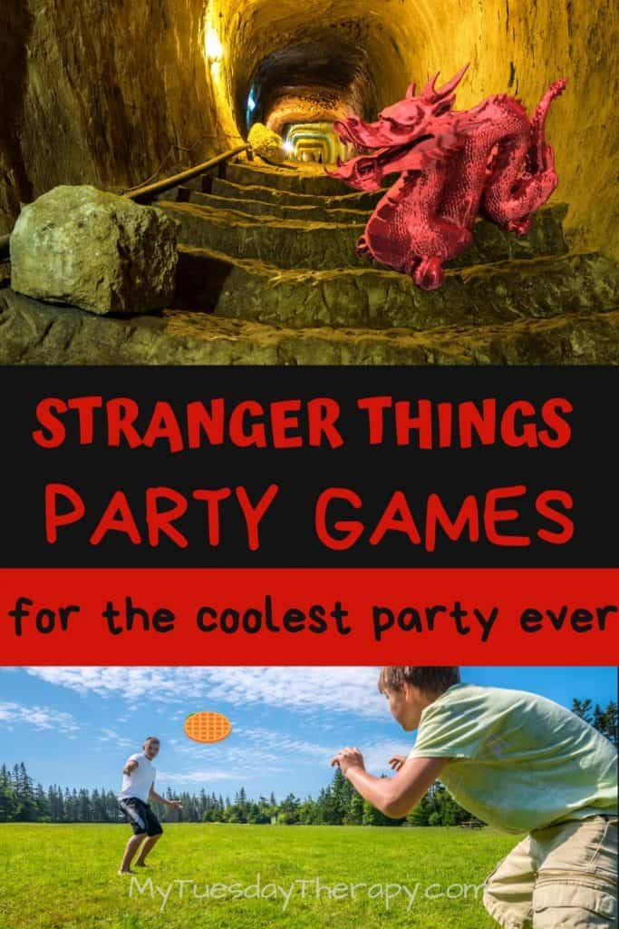 Fun Stranger Things Party Games from board games, active games like playing with waffles