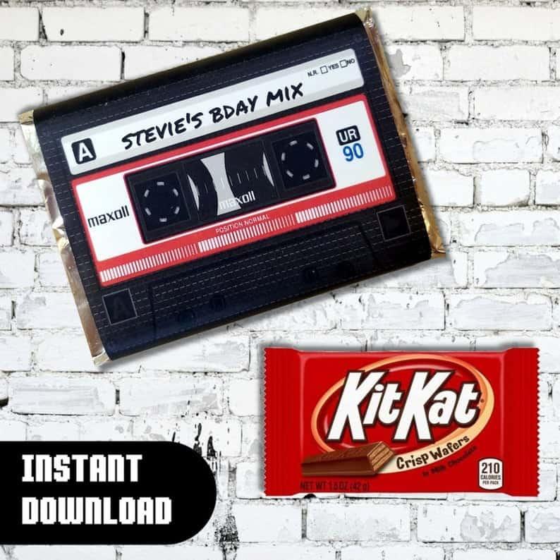 Stranger Things Party Favor Candy Wrapper (DgtlDesignsShop)
