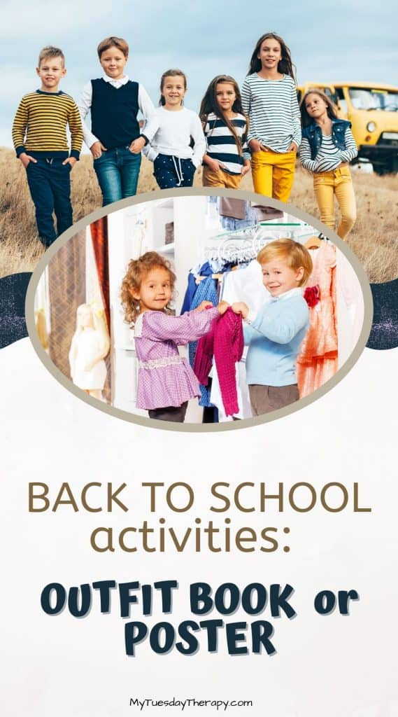 Back to School Party Activities: Make an outfit guide, book or poster.