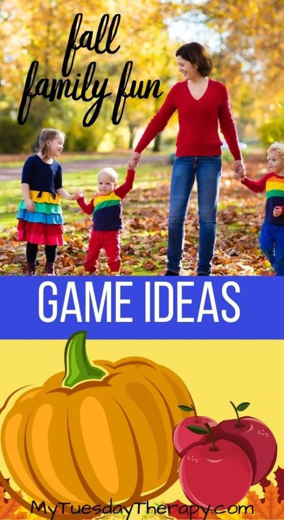 fall games for family, fall fun for kids