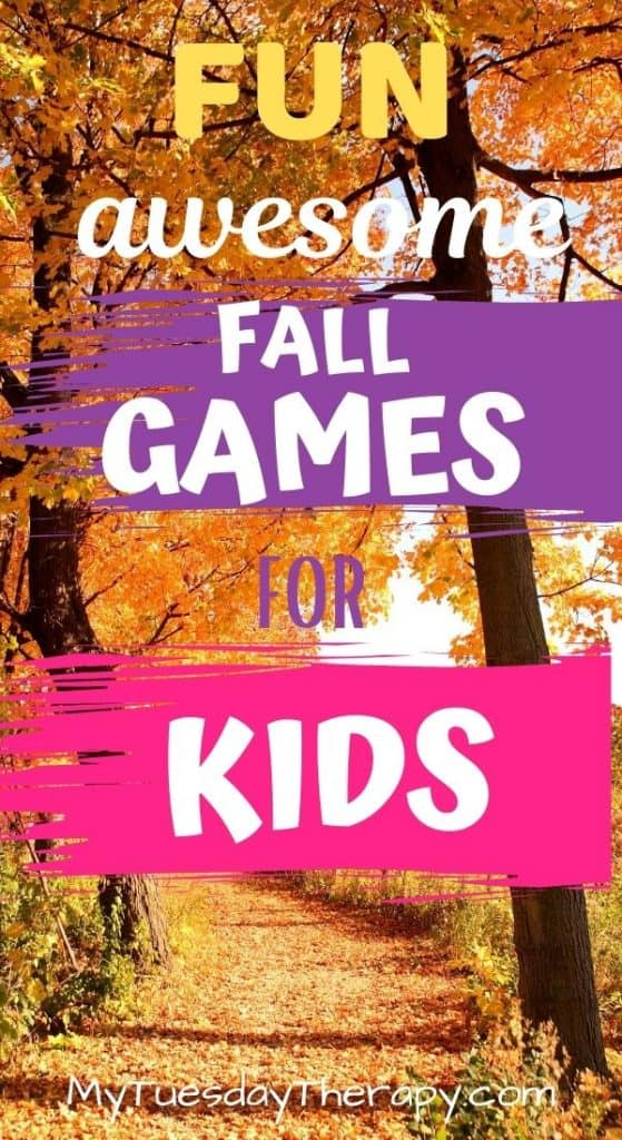 Fall games for kids. Outdoor games.