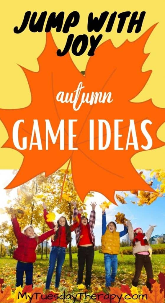 Jump with joy! Fall game ideas for kids.