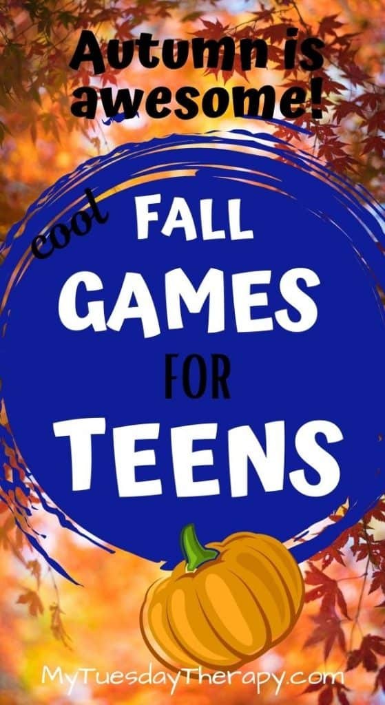 Fall games for teens. Fall fun for teenagers.