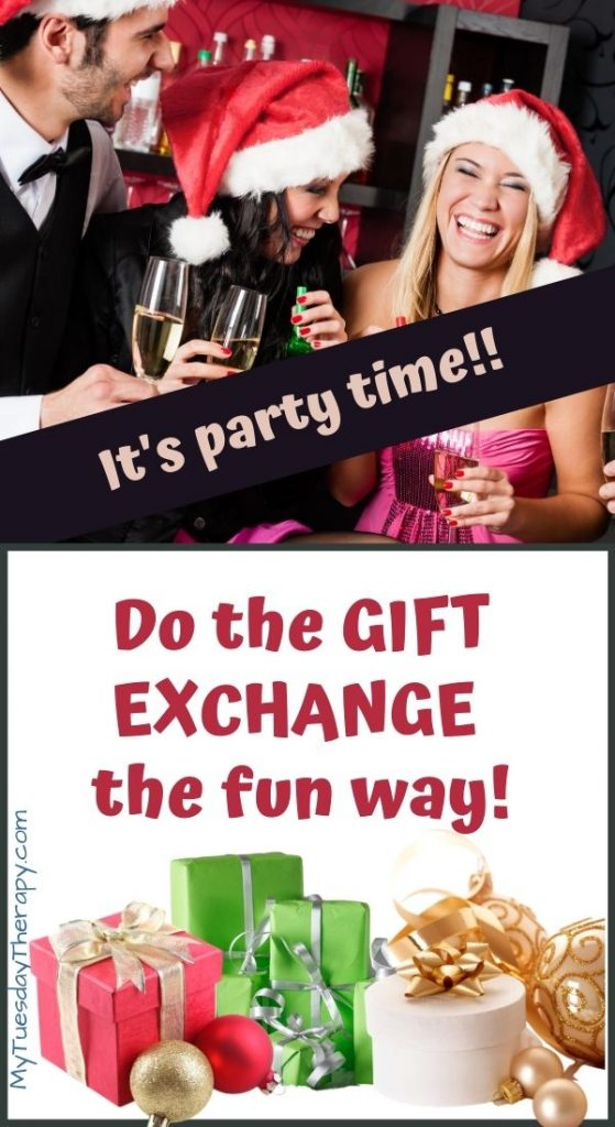 It's Christmas Party Time! Fun gift exchange game ideas for adults.
