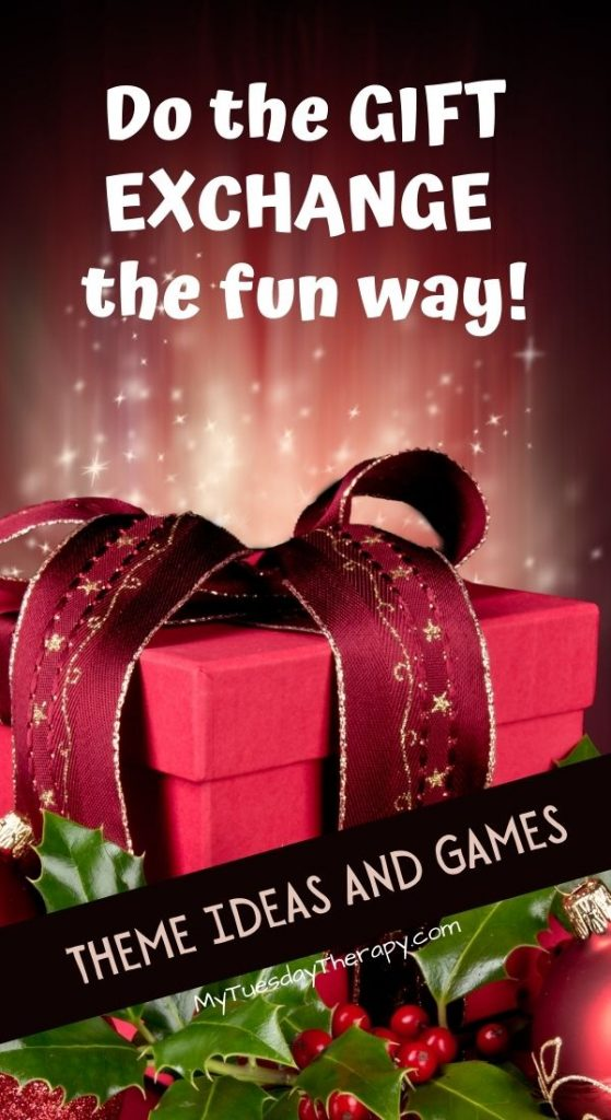 Do the Christmas gift exchange the fun way! Gift theme ideas and games!