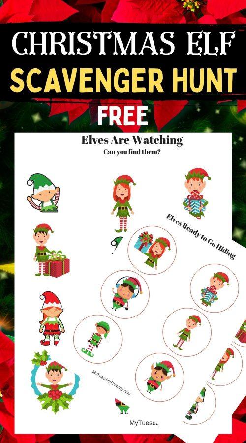 Elf Scavenger Hunt Free Christmas Printable