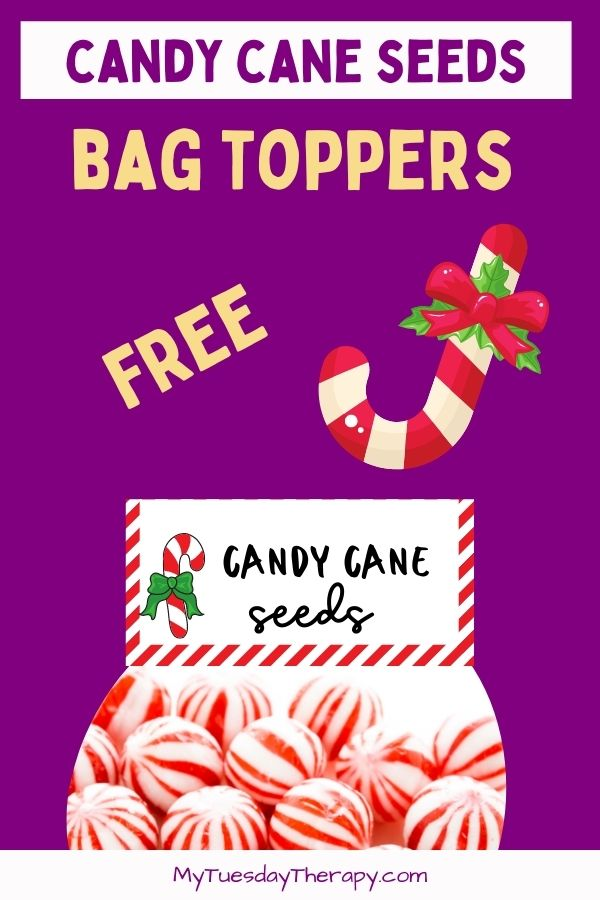 Candy Cane Seeds Free Printable Bag Toppers