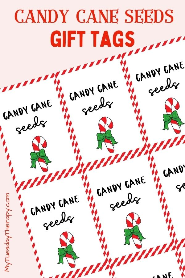 Candy cane seeds gift tags