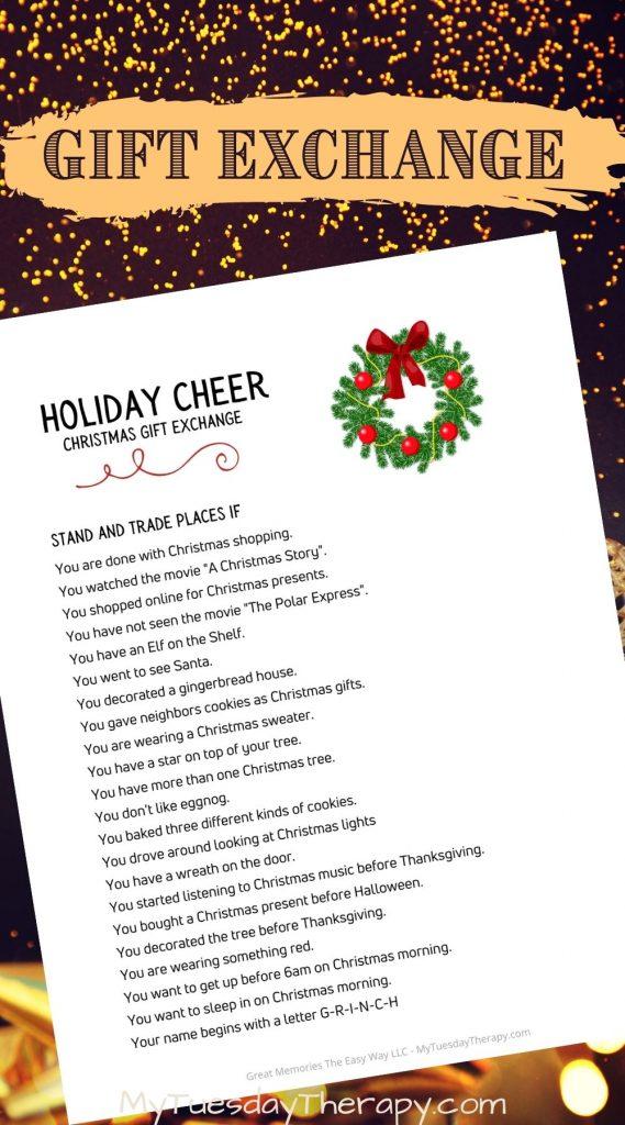 Christmas Gift Exchange Game: Holiday Cheer