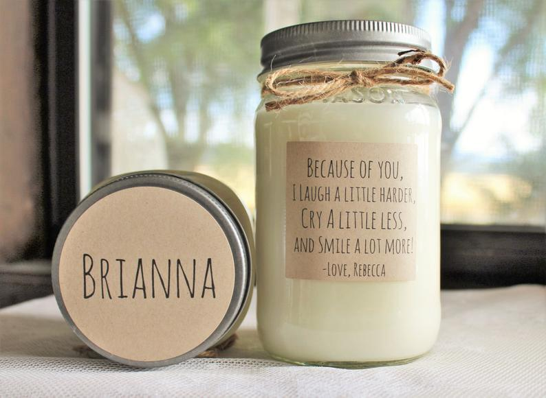 Personalized Candle for Best Friend from The Dancing Wick
