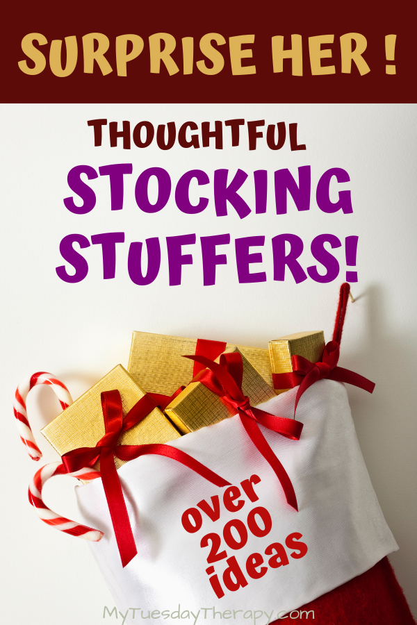 Thoughtful stocking stuffers for her.