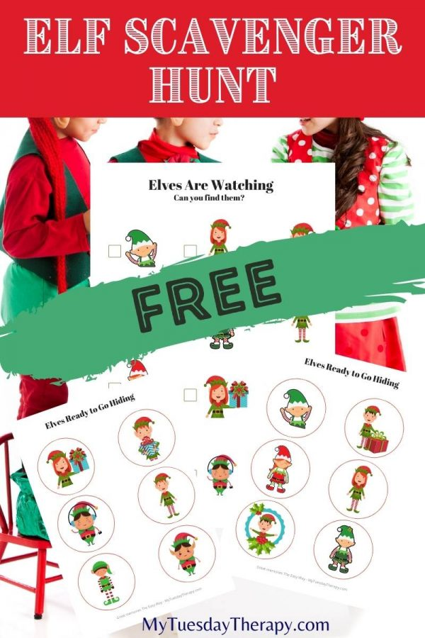 Elf Christmas Scavenger Hunt Free Printable