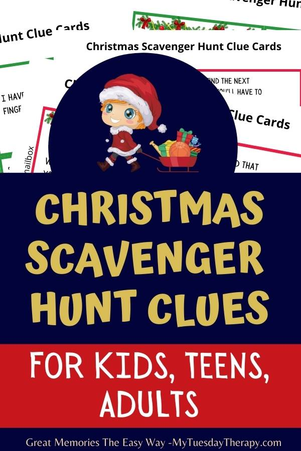Christmas Scavenger Hunt Clues Easy And Hard Riddles For Finding Gifts