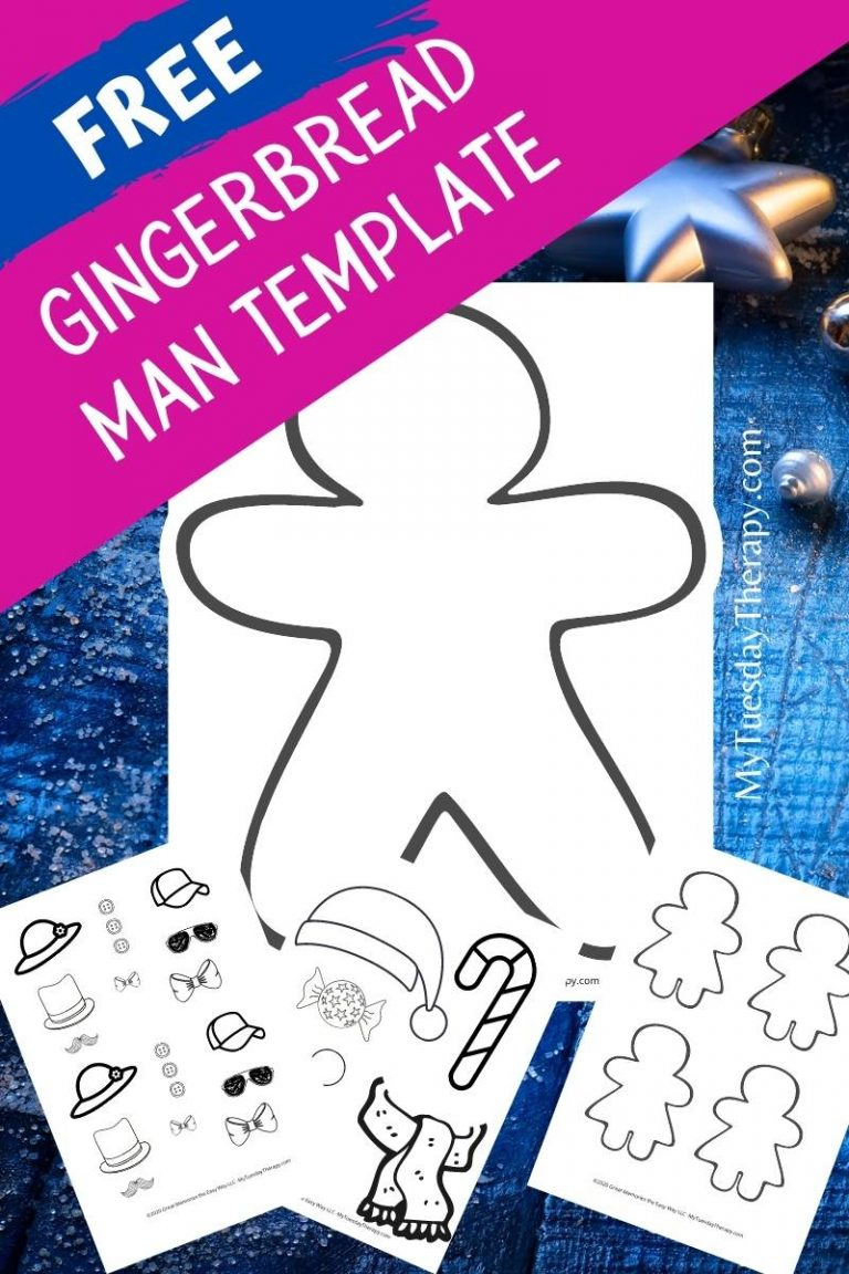 Free gingerbread man template, gingerbread woman template. Two sizes.