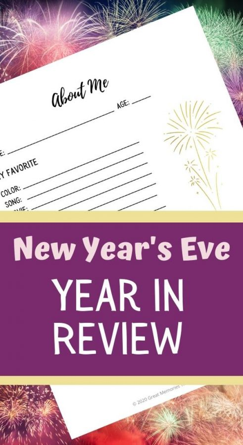 New Year's Eve Year In Review. An about me page for New Year's Eve time capsule.