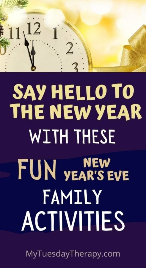 New Year's Eve Activities for kids and family.