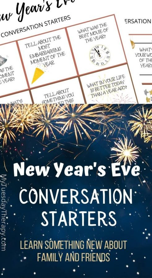 New Year's Eve conversation starters. Fun New Year's Eve activity.