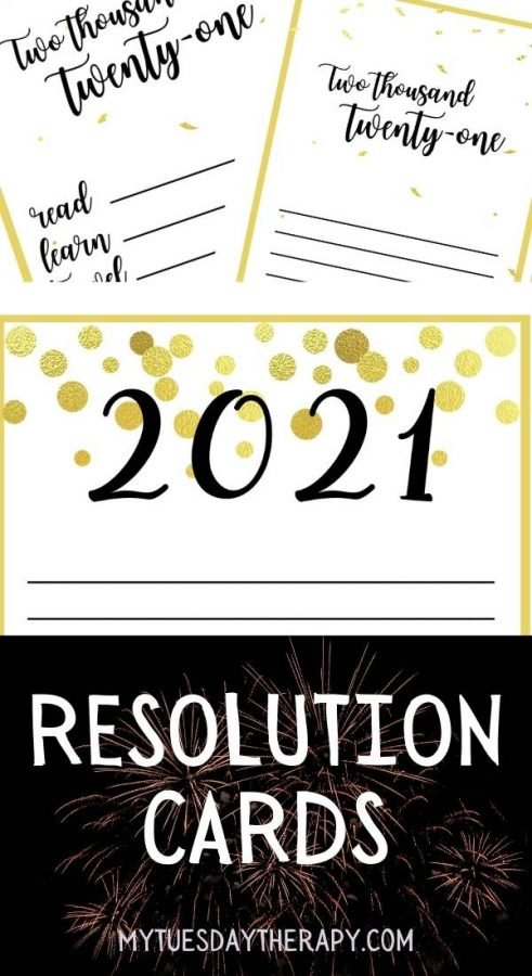 New Year's Eve Resolution Cards