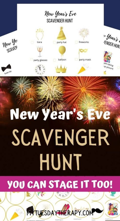 New Year's Eve Savenger Hunt, 3 pages.