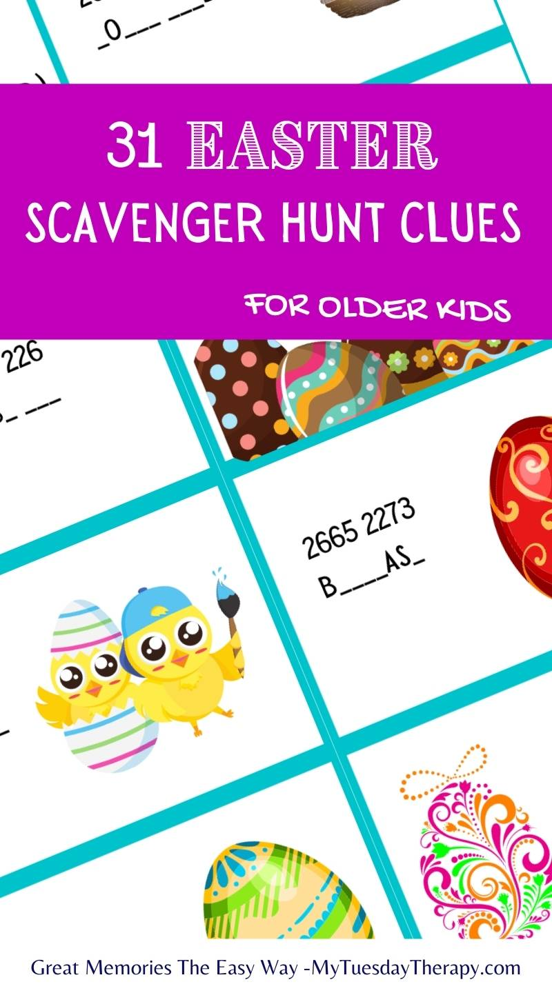 Easter scavenger hunt clues: figure out the words by using the phone number pad. Easter fun for teens.