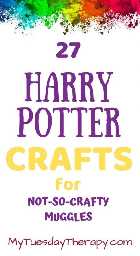 Harry Potter crafts for not-so-crafty muggles. Harry Potter crafts for fans. Image of paint splashes.