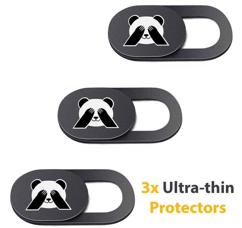 Webcam Cover from Panda Privacy. An ultra-thin protector with a cute image of panda covering his eyes.