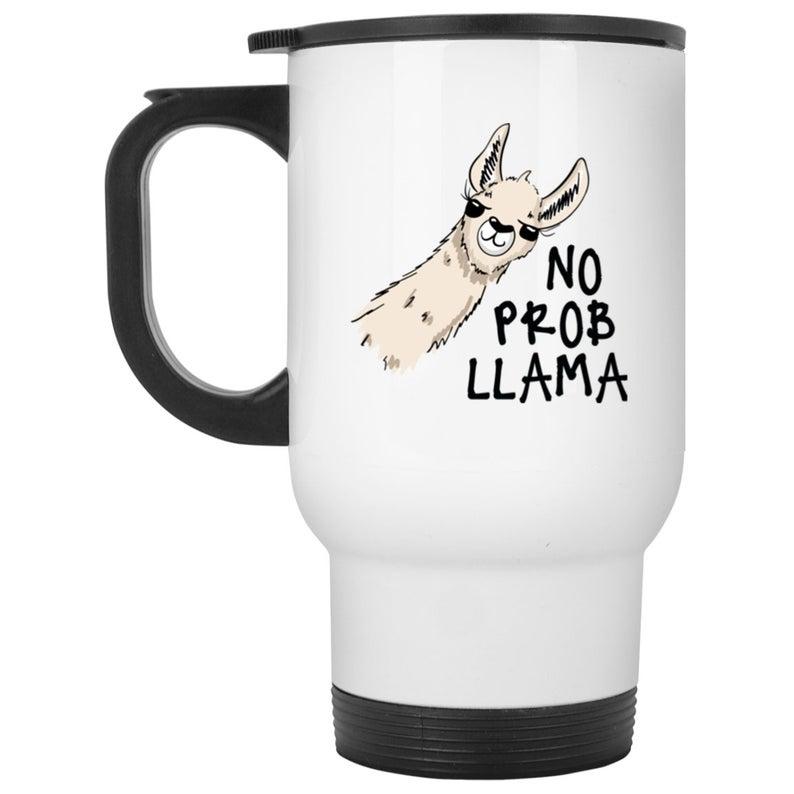 No Probllama Travel Mug (madhattermug)