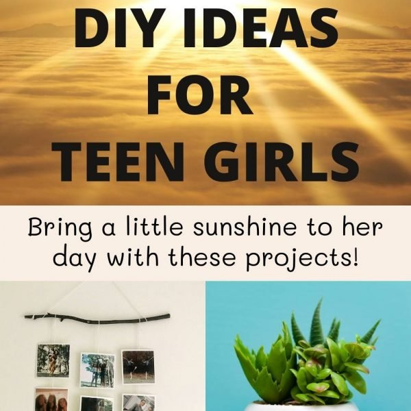 Summer crafts for teen girls. Bring a little sunshine to her day with these projects. DIY photo display with sticks and yarn. Flower pot makeover.