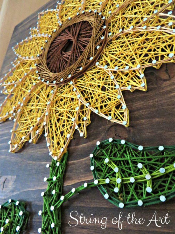 Sunflower String Art Kit (string of the art)
